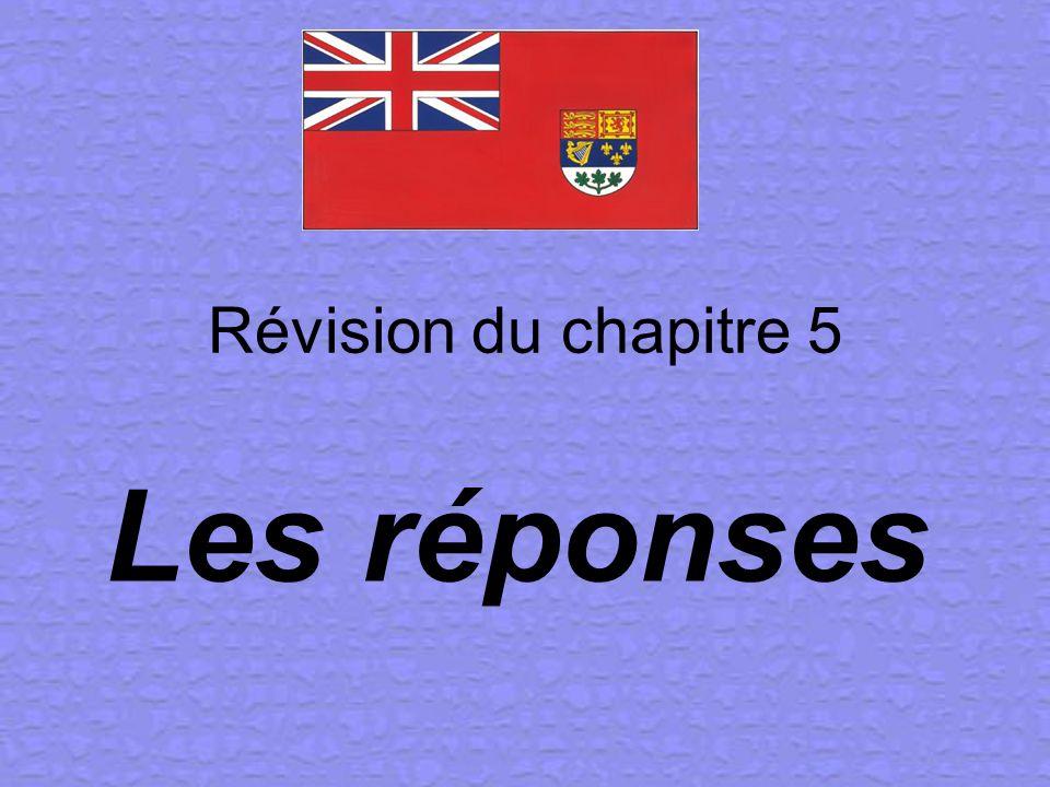 Révision du chapitre 5 Les réponses