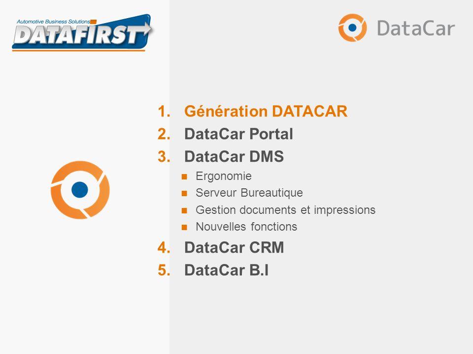 Mai 2013 Présentation DATACAR DataCar DMS Principales nouveautés Nouvelle méthode de gestion des préférences utilisateur – Raccourcis dans le ruban ou par touches clavier
