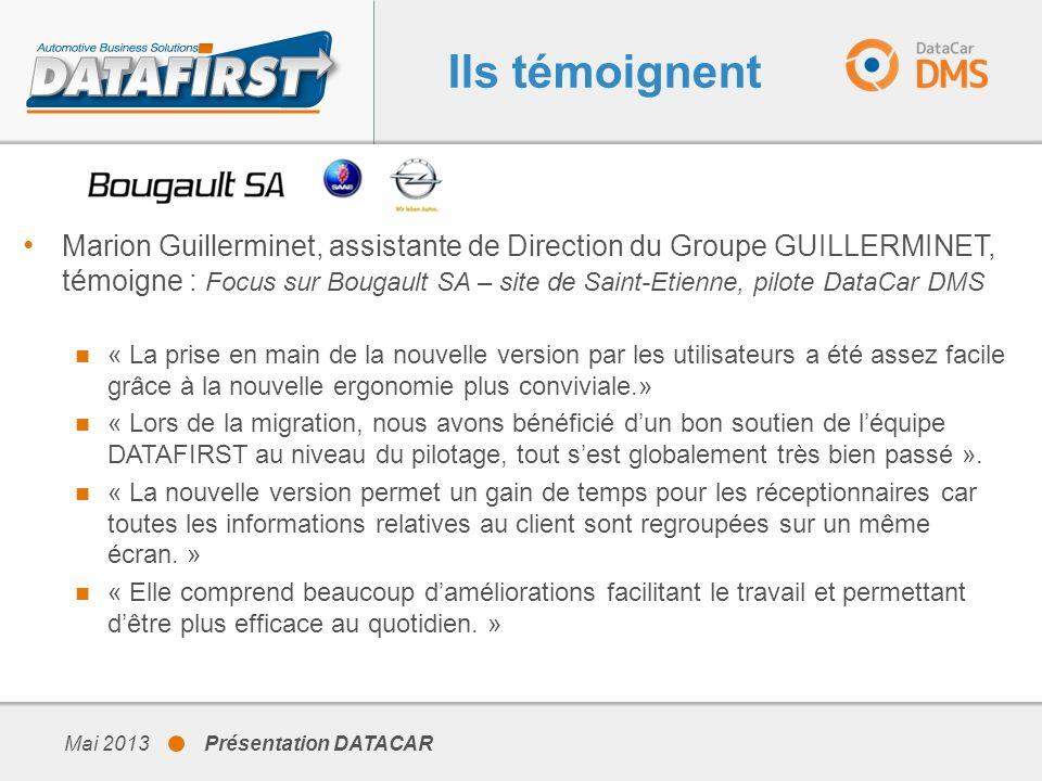 Ils témoignent Marion Guillerminet, assistante de Direction du Groupe GUILLERMINET, témoigne : Focus sur Bougault SA – site de Saint-Etienne, pilote D