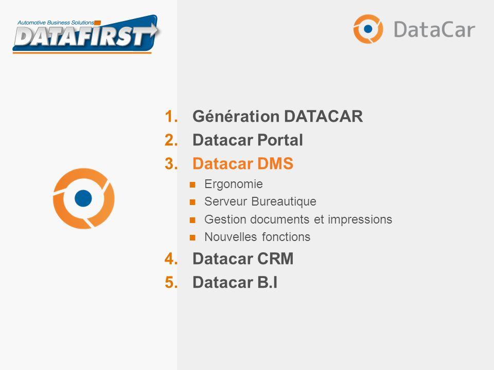 DataCar DMS Principales nouveautés Nouveaux composants – Tableur intégré (pas dutilisation dExcel) Mai 2013 Présentation DATACAR