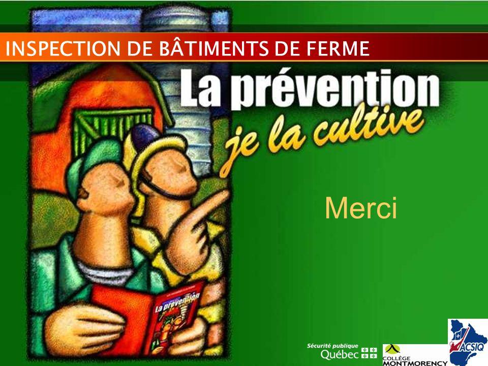 INSPECTION DE BÂTIMENTS DE FERME Merci