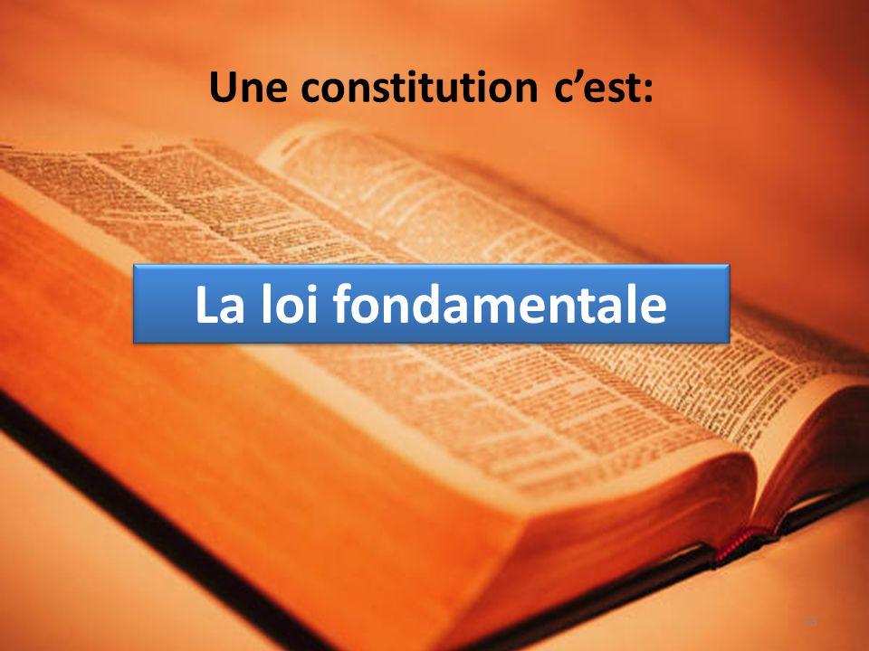 Une constitution cest: La loi fondamentale 53