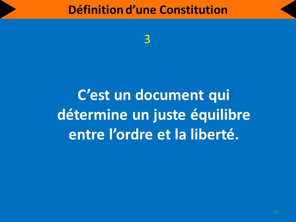 Cest un document qui détermine un juste équilibre entre lordre et la liberté.