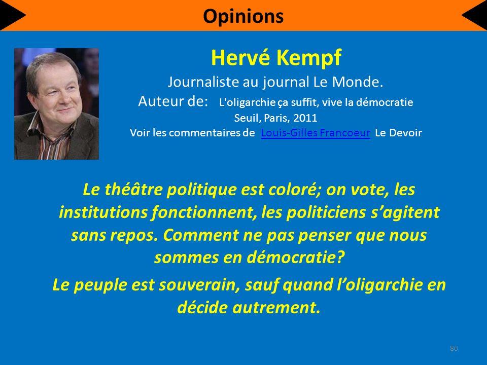 Hervé Kempf Journaliste au journal Le Monde.