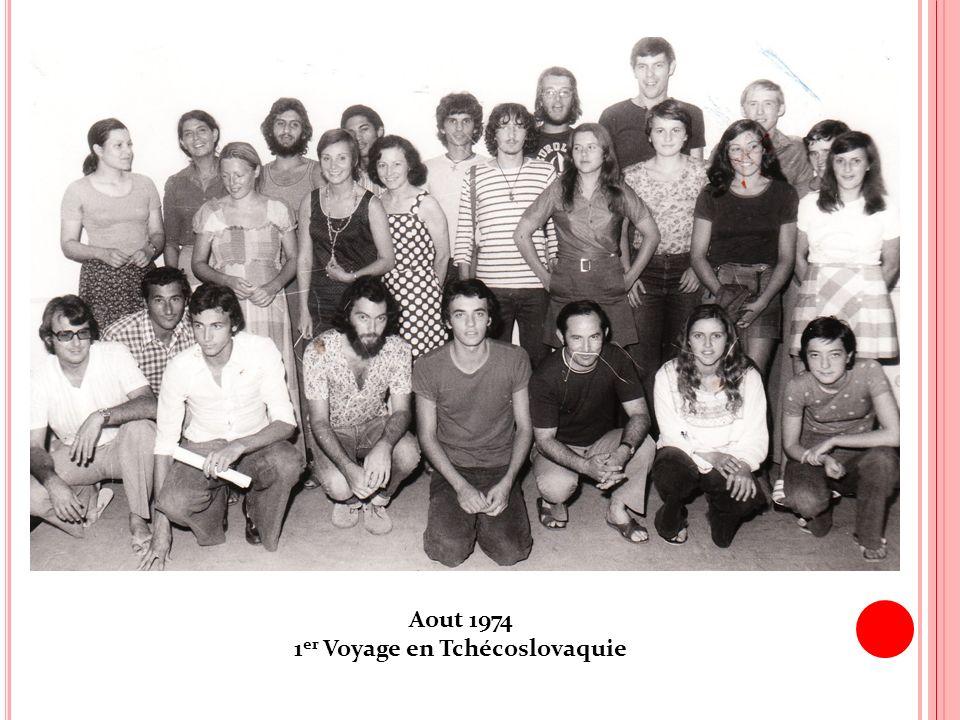 Aout 1974 1 er Voyage en Tchécoslovaquie