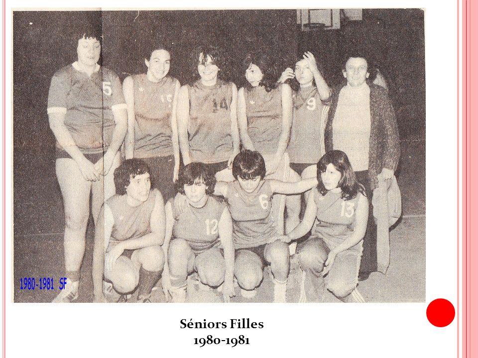 Séniors Filles 1980-1981