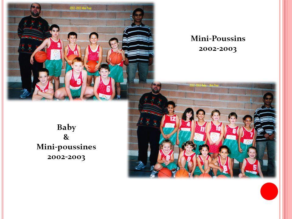 Mini-Poussins 2002-2003 Baby & Mini-poussines 2002-2003