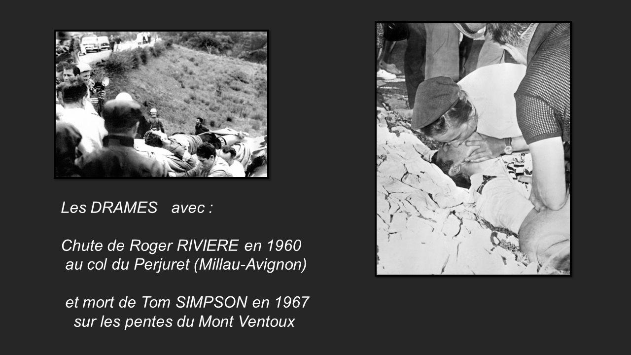 André DARRIGADE le sprinter (Le Lévrier des Landes) Ici en 1958 endosse le maillot jaune avec sa victoire détape Bruxelles – Gand.