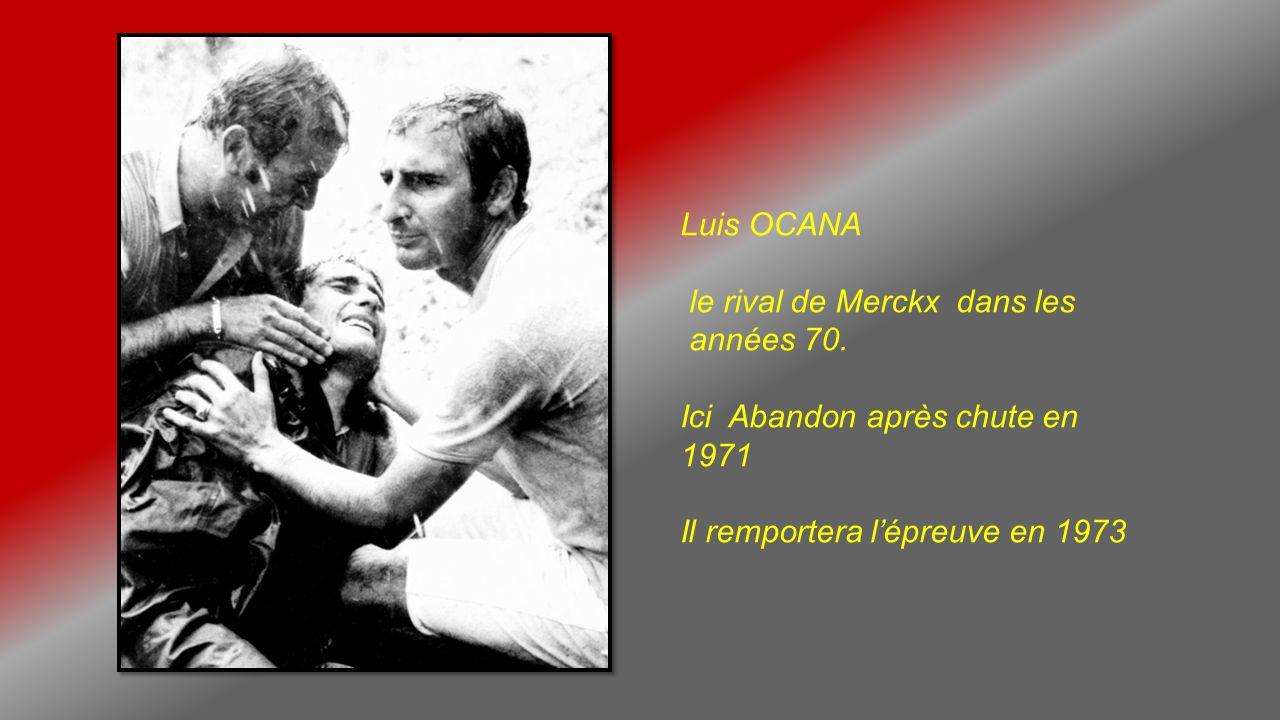 Jacques ANQUETIL Cinq fois vainqueur du Tour entre 1950 et 60 Ici en 1963, après létape Val dIsère – Chamonix.