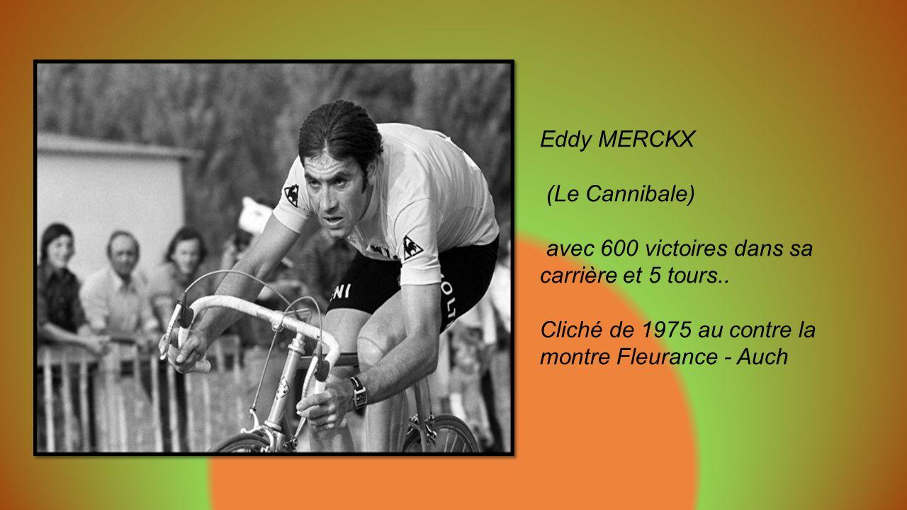 Raymond POULIDOR 1973 – 74 égratignures après une Chute au col d Aspet. Eternel second par 8 fois dans le Tour.