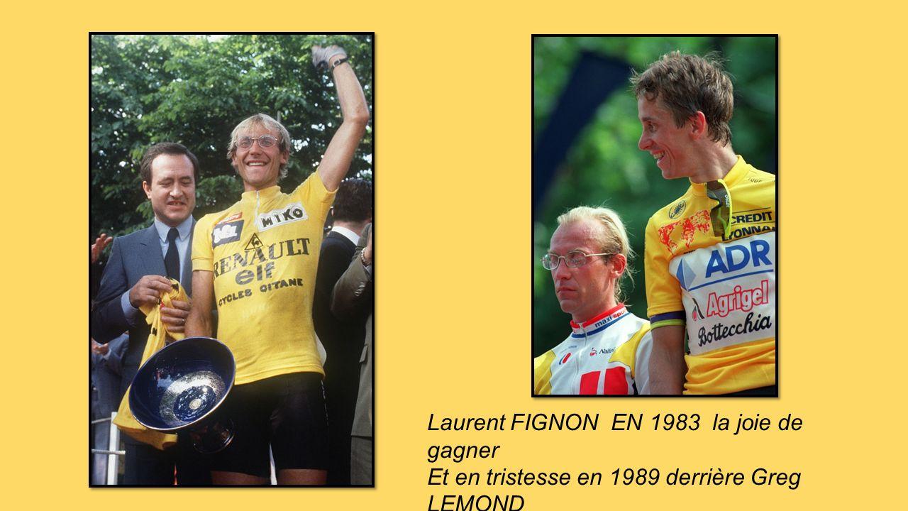 Lucien VAN IMPE au sommet en 1976 6 fois maillot à pois entre 1971 et 83 et gagne en 76 Bernard THEVENET vainqueur en 1975 et 77 applaudi par M & Mme