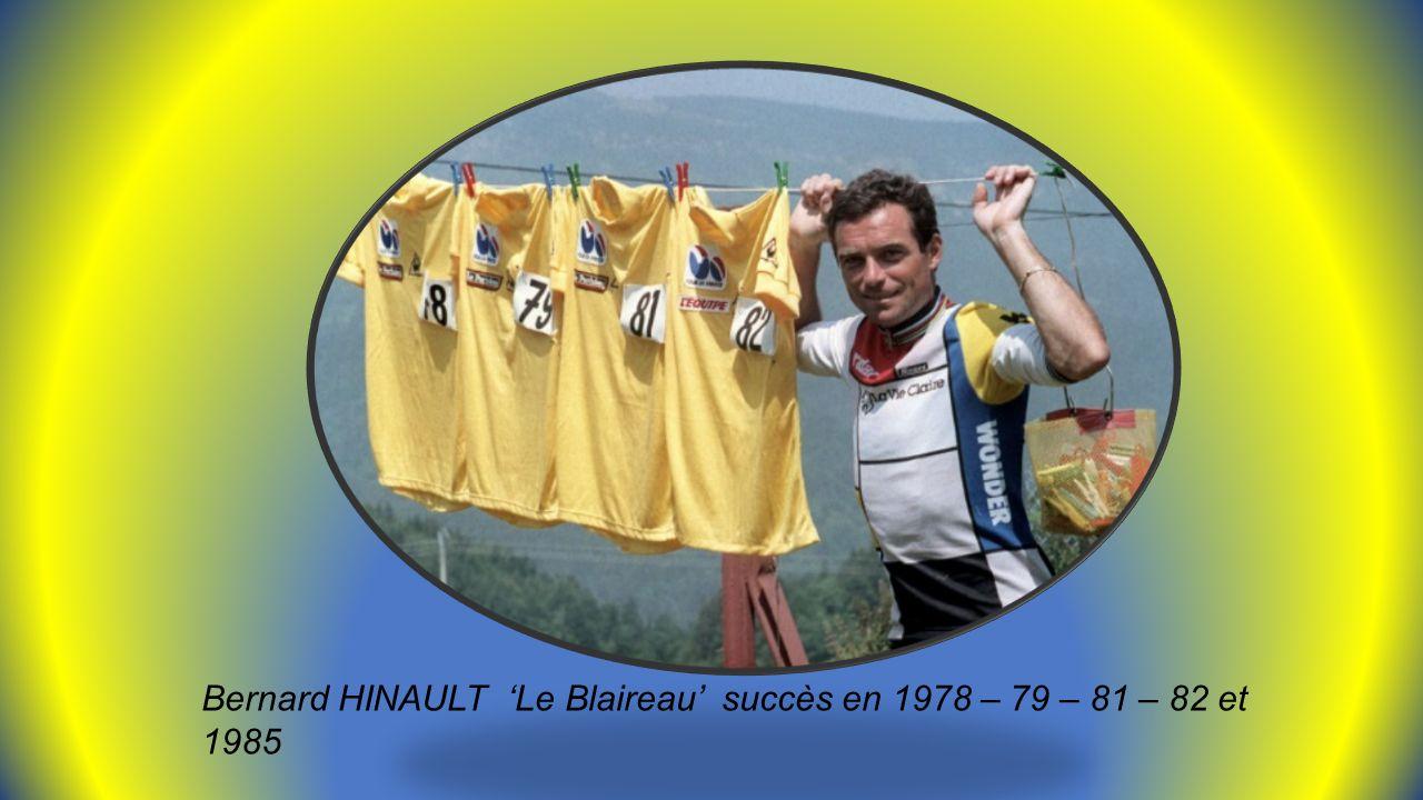 Laurent FIGNON EN 1983 la joie de gagner Et en tristesse en 1989 derrière Greg LEMOND