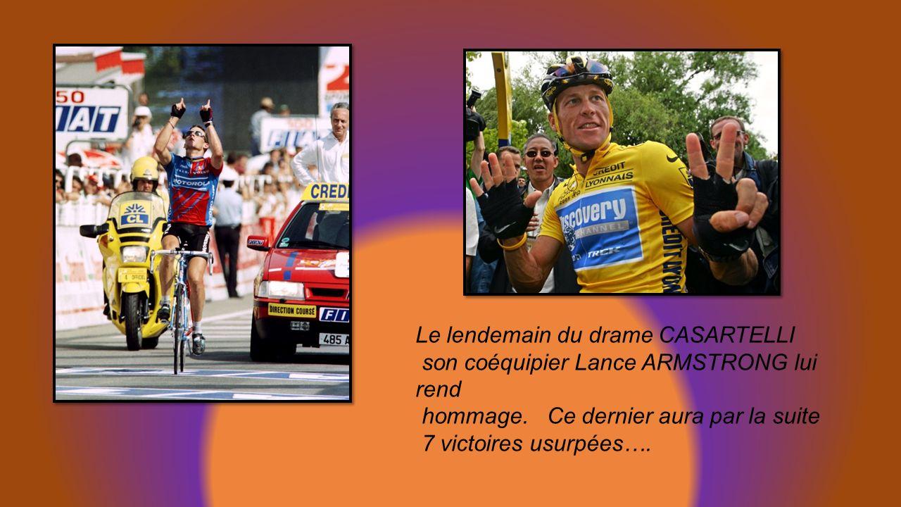 Les DRAMES Fabio CASARTELLI chute mortelle dans le col du Portet dAspet en 1995 lors de la 15éme étape Chute aussi de JALABERT en 1994 à Armentières.