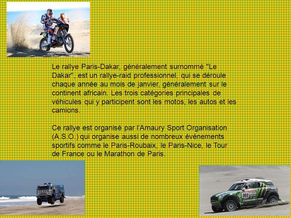La naissance du Dakar L aventure du Dakar a commencé en 1977 lorsque Thierry Sabine sest perdu en moto dans le désert de Libye au cours du rallye Abidjan-Nice.