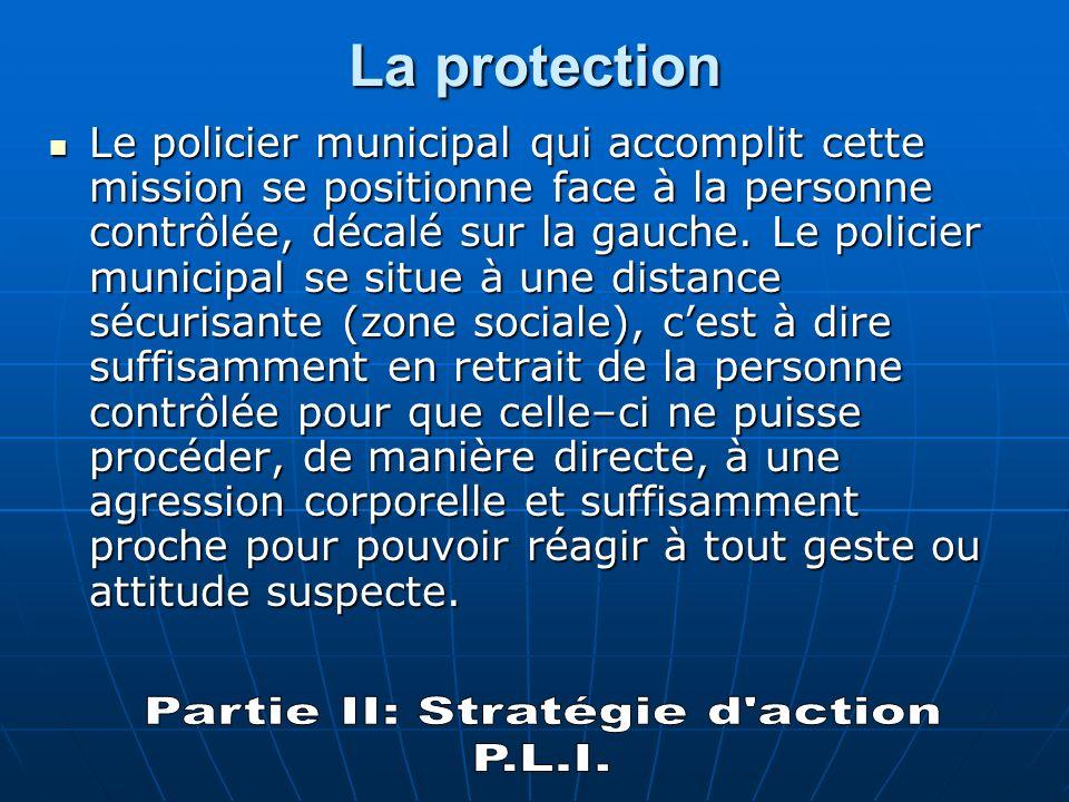 Il sagit du P.L.I : P comme protection L comme liaison I comme interpellation Lattribution de ces différents rôles (PLI) entre les policiers intervenants doit être effectuée avant tout début daction.