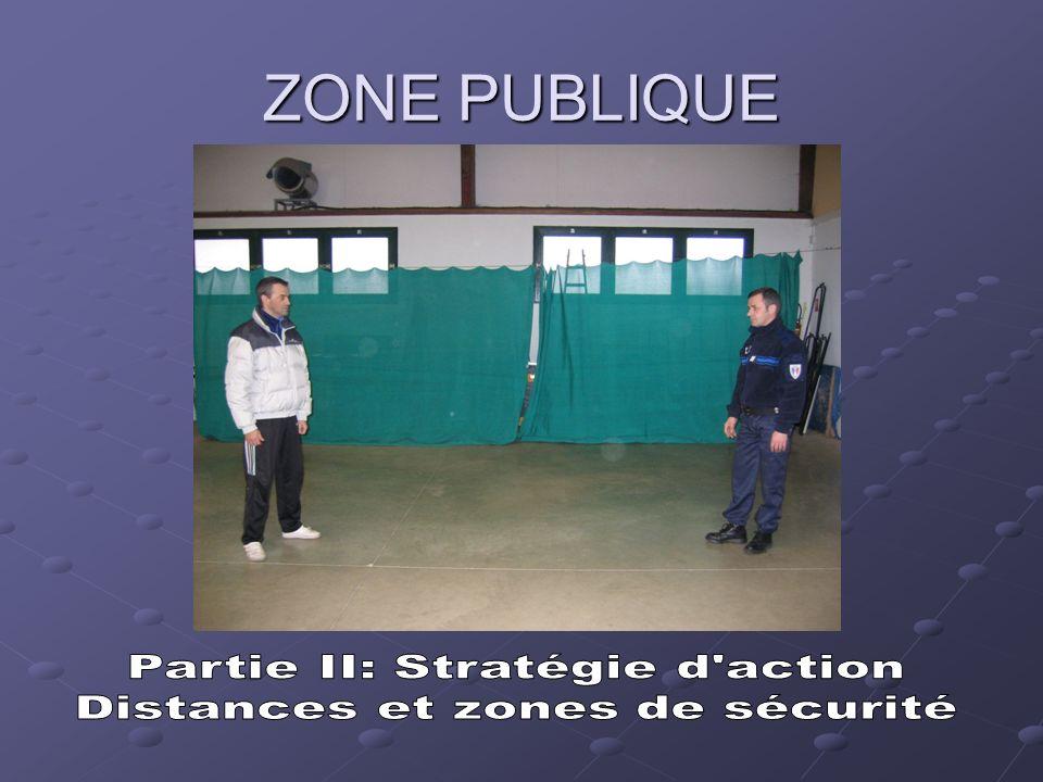 Les distances ou zones de sécurité Il existe trois zones de sécurité selon la situation ou lintervention qui se présentent : La zone publique La zone sociale La zone intime