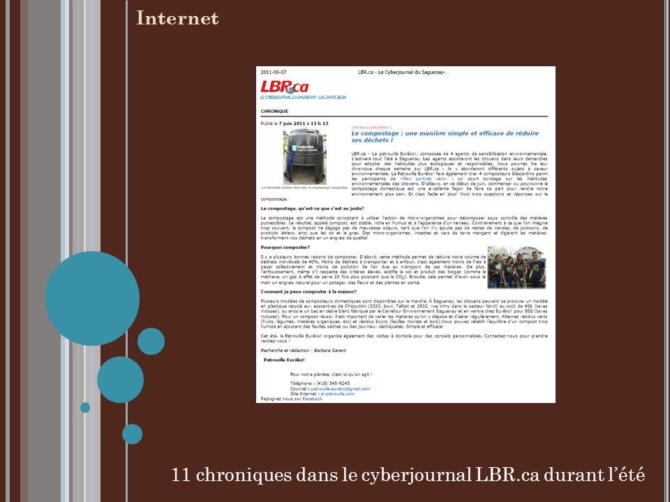 11 chroniques dans le cyberjournal LBR.ca durant lété