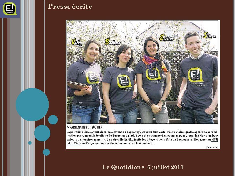 Le Quotidien 5 juillet 2011 Presse écrite