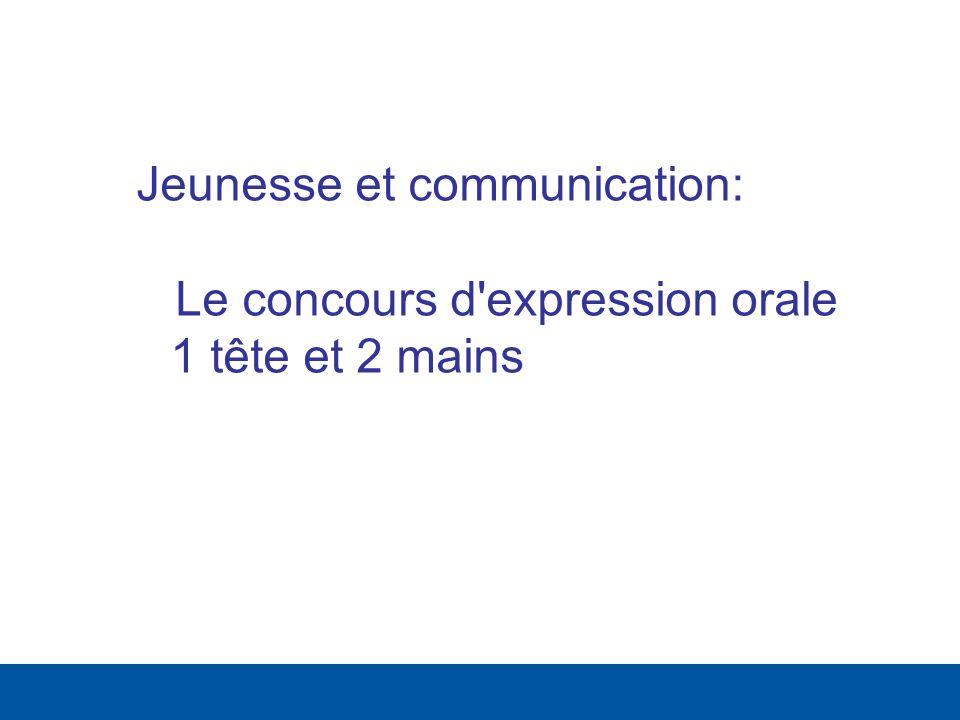 Jeunesse et communication: Le concours d'expression orale 1 tête et 2 mains