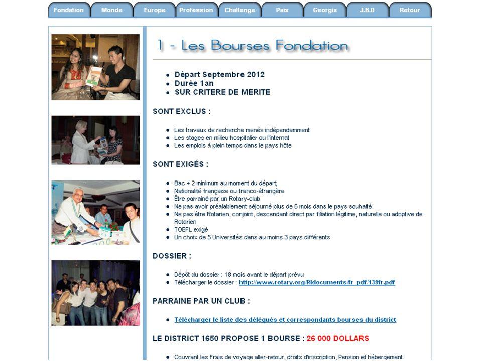 Bourse - Challenge « Europe et les jeunes »19 Challenge Europe et les jeunes Réaliser un reportage audio- visuel, témoignage de la jeunesse du pays visité.
