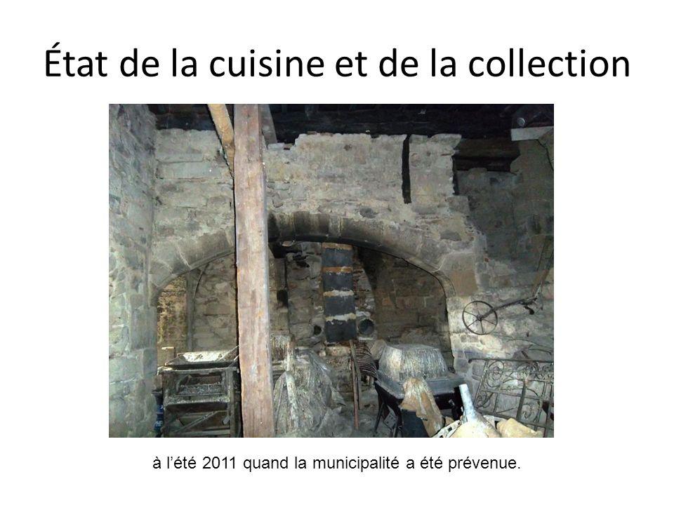 État de la cuisine et de la collection à lété 2011 quand la municipalité a été prévenue.