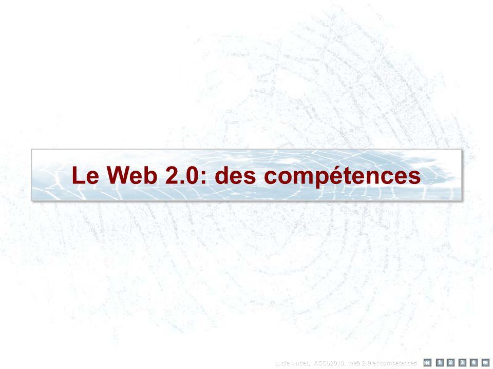 Le Web 2.0: des compétences 12 34