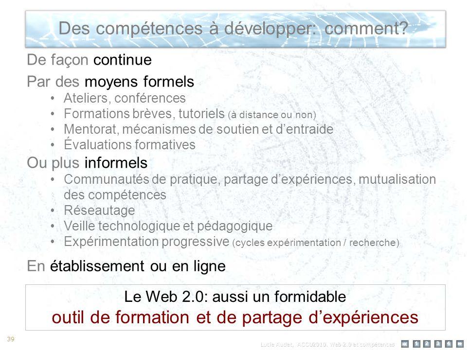 12 34 39 Des compétences à développer: comment.