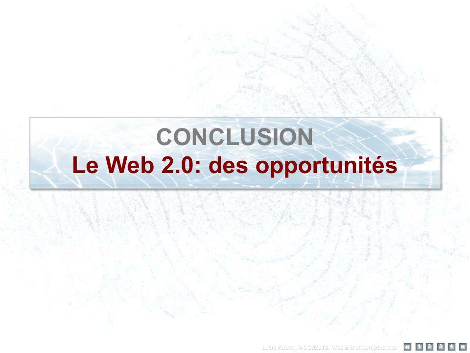 CONCLUSION Le Web 2.0: des opportunités 12 34