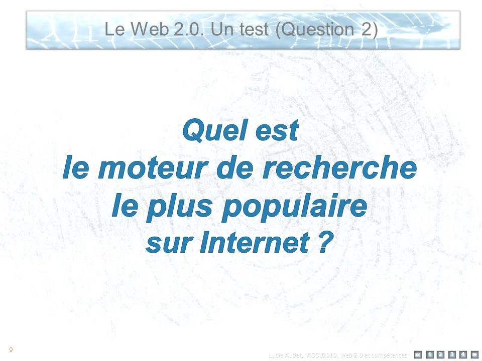 Le Web 2.0: quelques usages 12 34 Today, the duality of conceptual (new models of education, advancement of social learning theory) and technological (elearning, mobile devices, learning networks) revolutions offers the prospect of transformative change in teaching and learning.