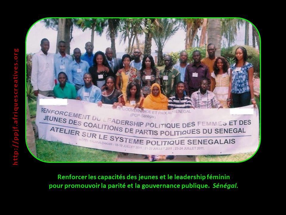 Renforcer les capacités des jeunes et le leadership féminin pour promouvoir la parité et la gouvernance publique.