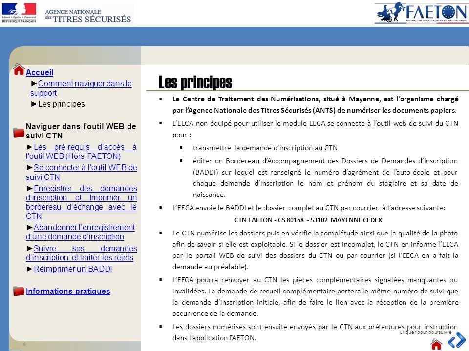 Les principes Cliquer pour poursuivre Le Centre de Traitement des Numérisations, situé à Mayenne, est lorganisme chargé par lAgence Nationale des Titr