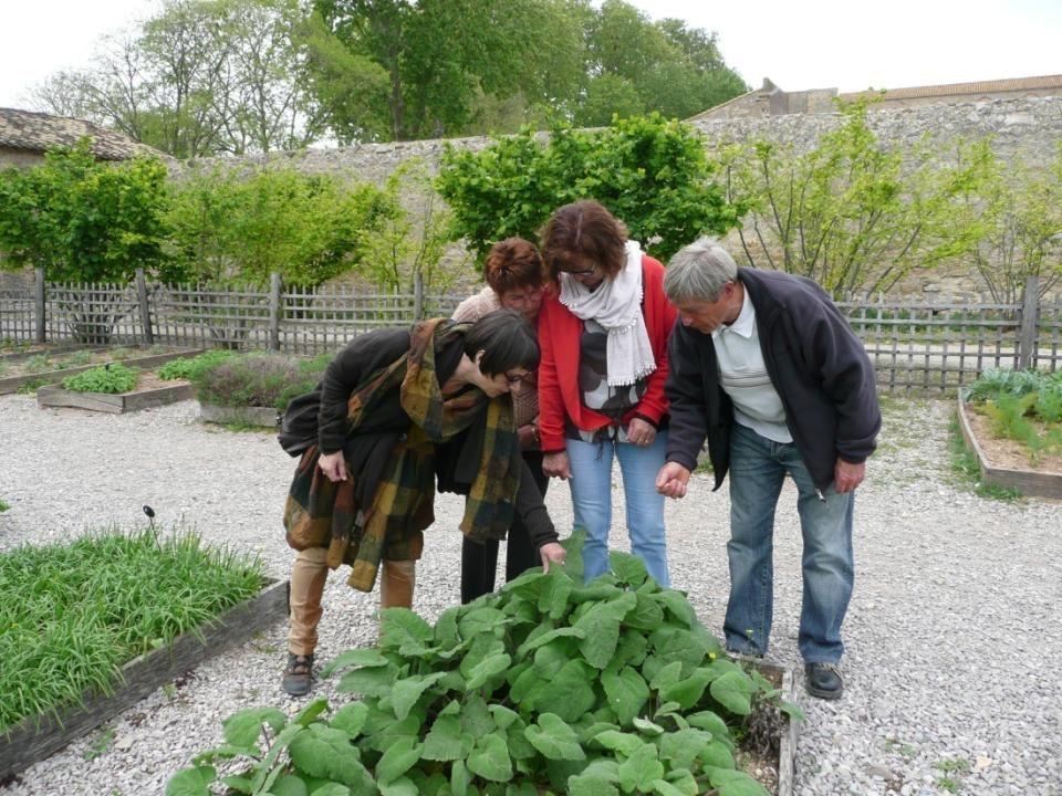 A l extérieur prés de la Porterie appelée aussi chapelle Saint-Blaise, le jardin de plantes médiévales, dit Jardin de Saint-Blaise.