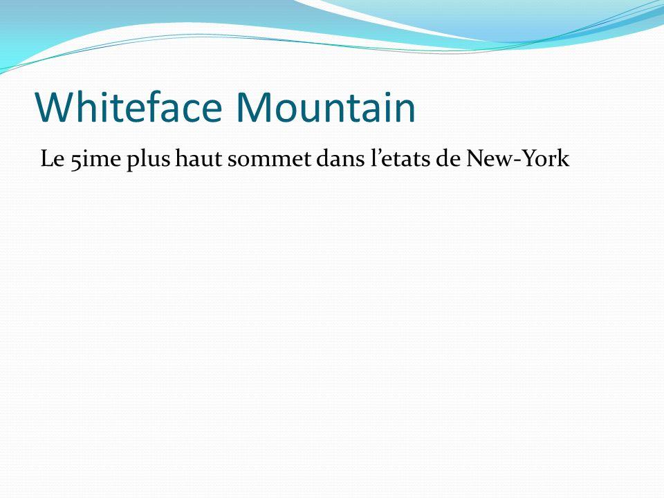Whiteface Mountain Le 5ime plus haut sommet dans letats de New-York