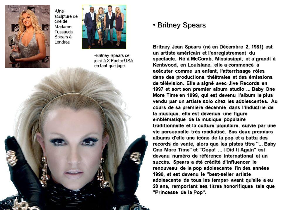 Britney Jean Spears (né en Décembre 2, 1981) est un artiste américain et l'enregistrement du spectacle. Né à McComb, Mississippi, et a grandi à Kentwo
