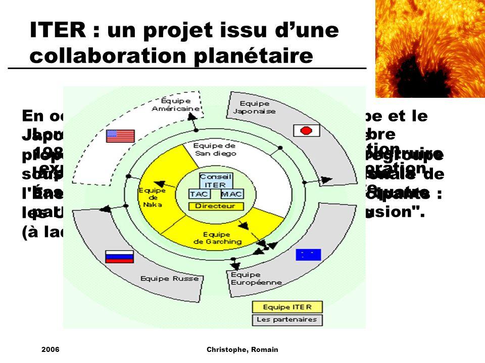 2006Christophe, Romain Lors du Sommet de Genève en Novembre 1985, l'Union soviétique propose de construire la prochaine génération de tokamak* sur la