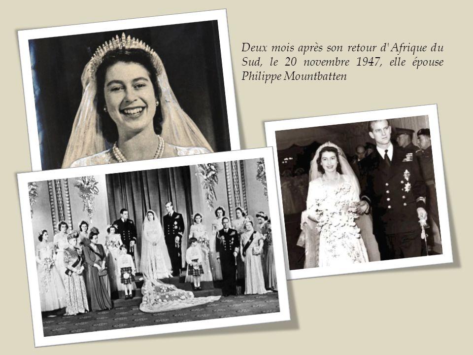 En 1947, la princesse Élisabeth a célébré son passage à l âge adulte à 5 000 km de son pays d origine, en Afrique du Sud, où elle a prononcé le discours peut-être le plus important de sa vie.