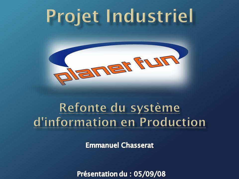 12 Projet de refonte du système d information en Production 1 234 => Le Planning Prévisionnel I.