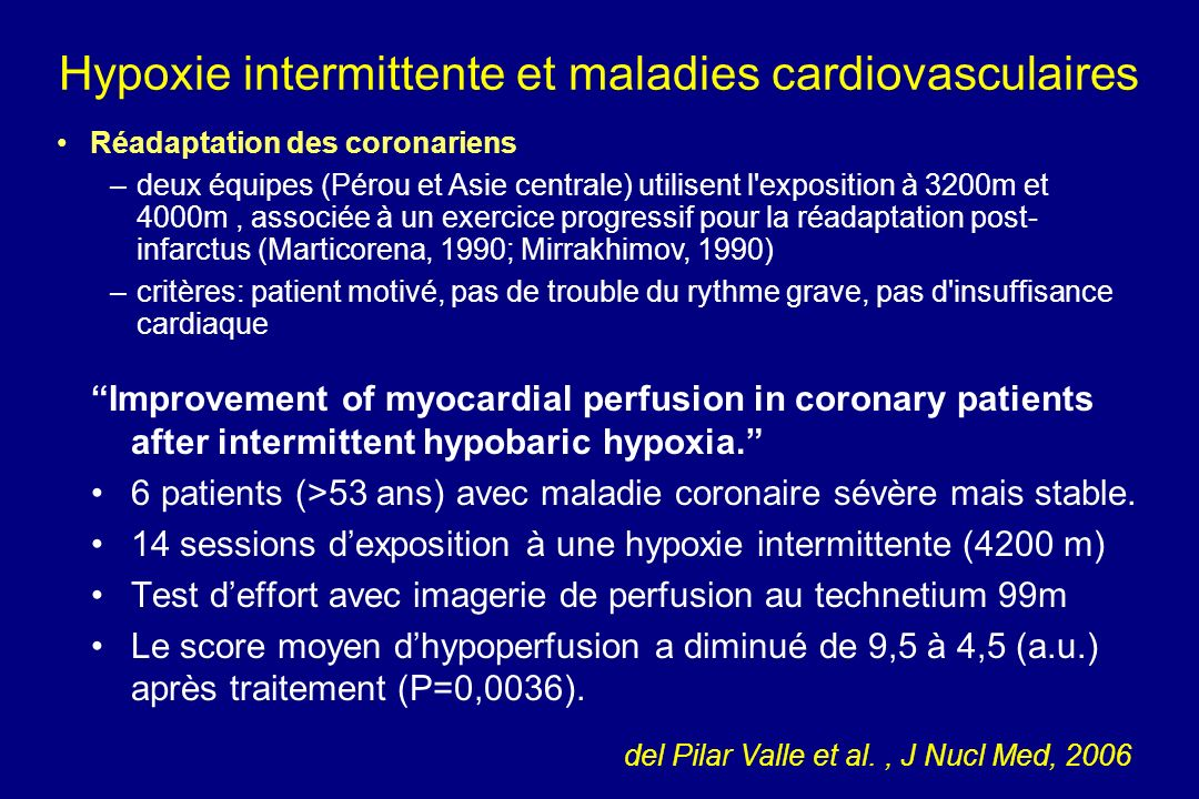 Improvement of myocardial perfusion in coronary patients after intermittent hypobaric hypoxia.
