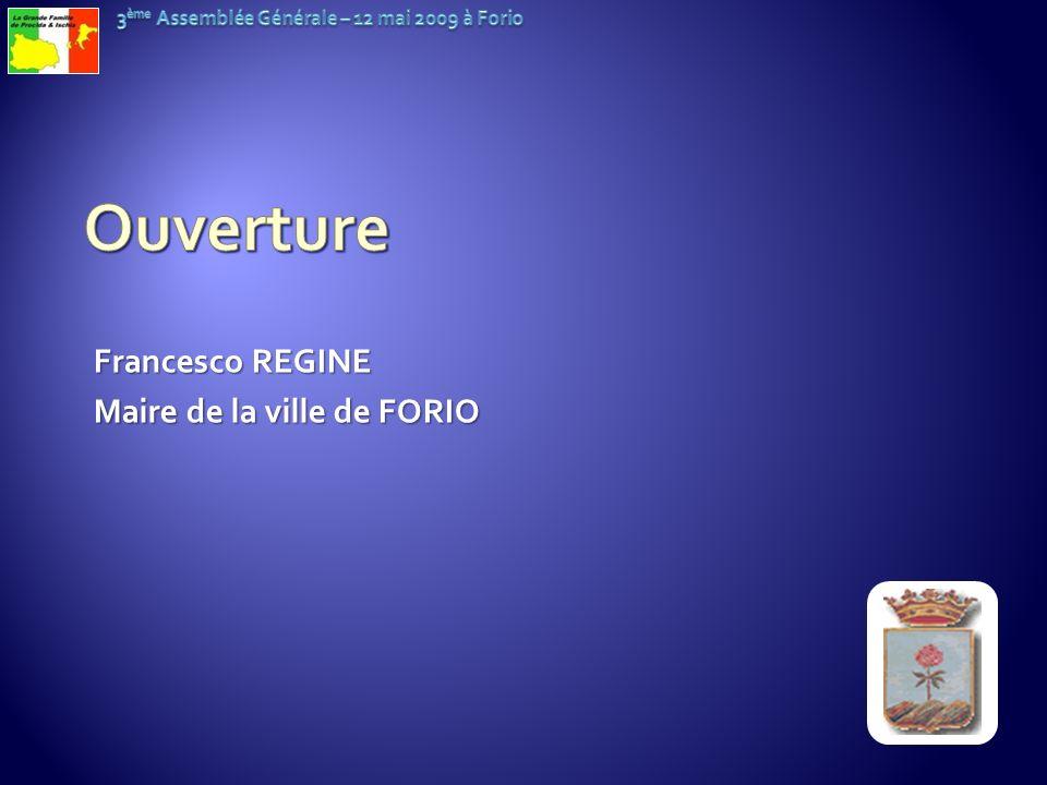 Francesco REGINE Maire de la ville de FORIO