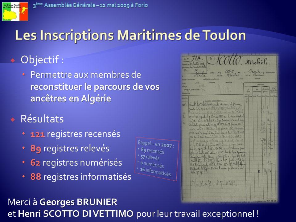 Objectif : Permettre aux membres de reconstituer le parcours de vos ancêtres en Algérie Permettre aux membres de reconstituer le parcours de vos ancêt