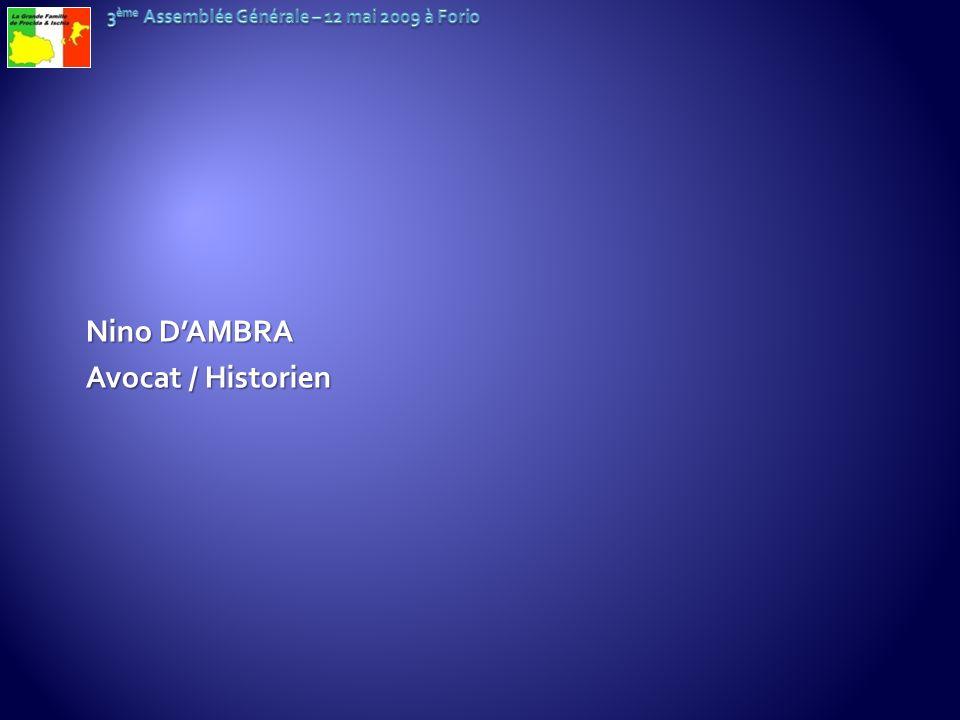 Nino DAMBRA Avocat / Historien