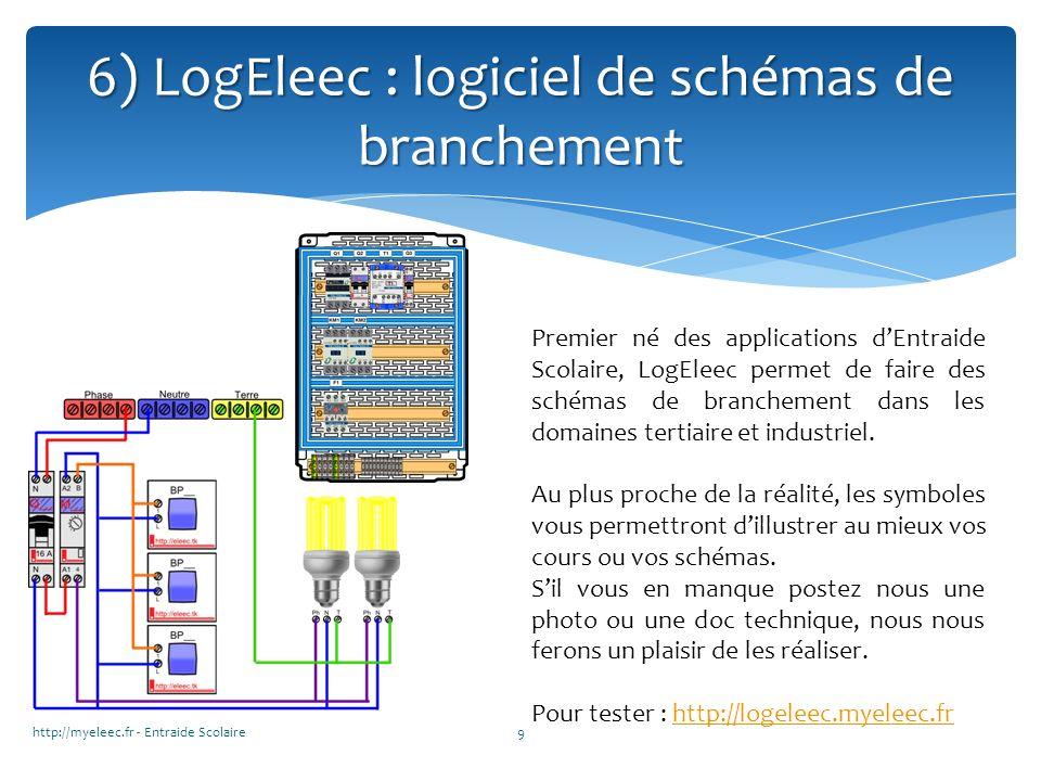 http://myeleec.fr - Entraide Scolaire9 6) LogEleec : logiciel de schémas de branchement Premier né des applications dEntraide Scolaire, LogEleec perme
