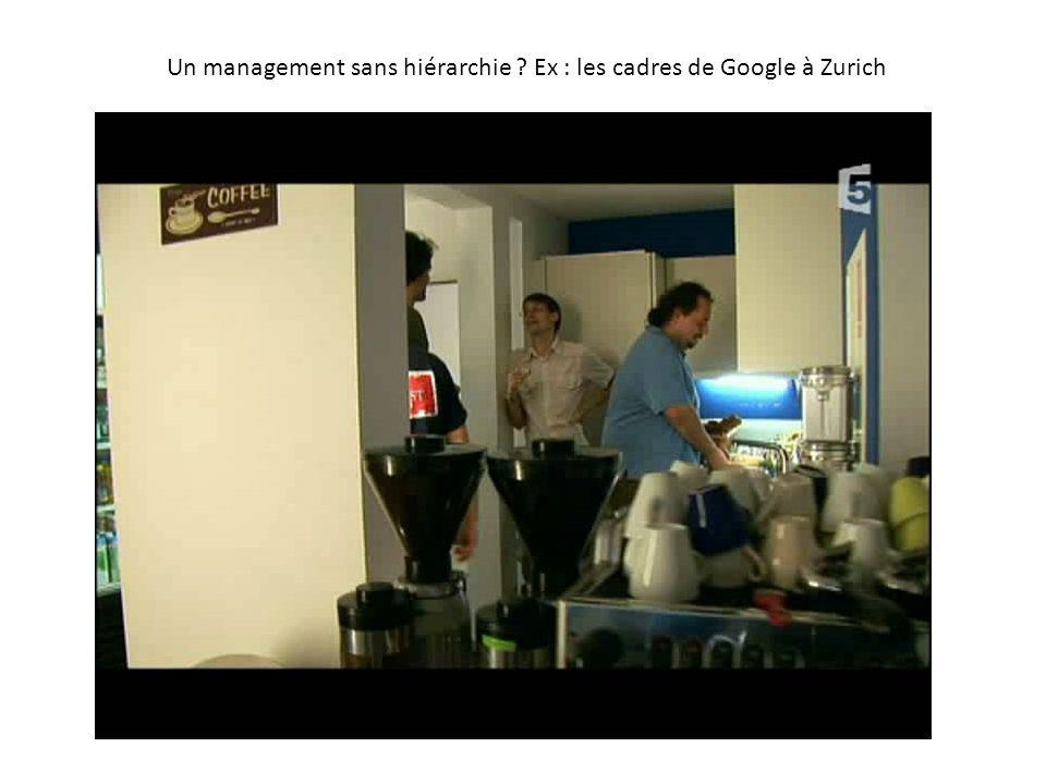 Un management sans hiérarchie ? Ex : les cadres de Google à Zurich