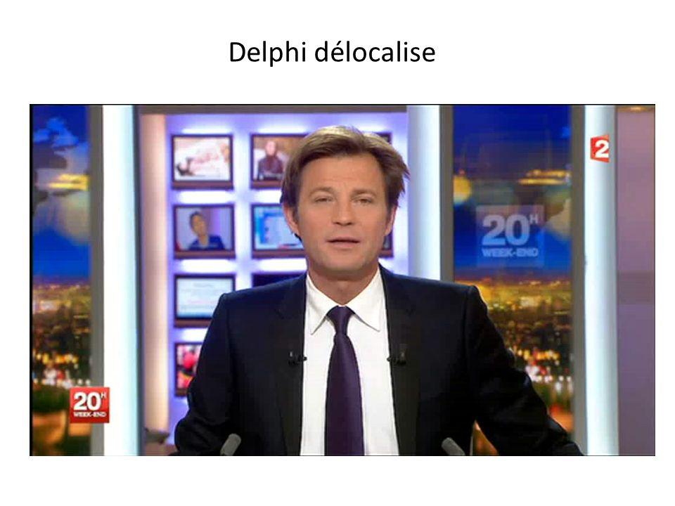 Delphi délocalise