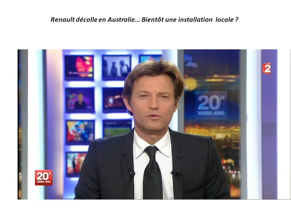 Renault décolle en Australie… Bientôt une installation locale ?