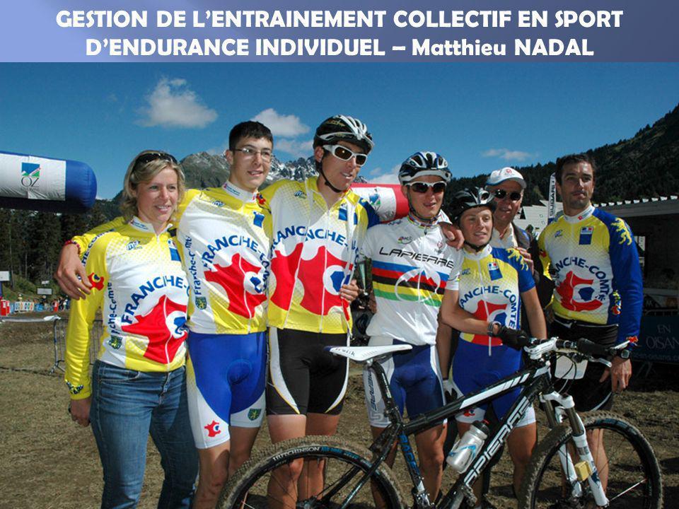 Le cyclisme est souvent décrit comme un sport individuel qui se pratique en équipe en compétition…et pourquoi pas à lentraînement .