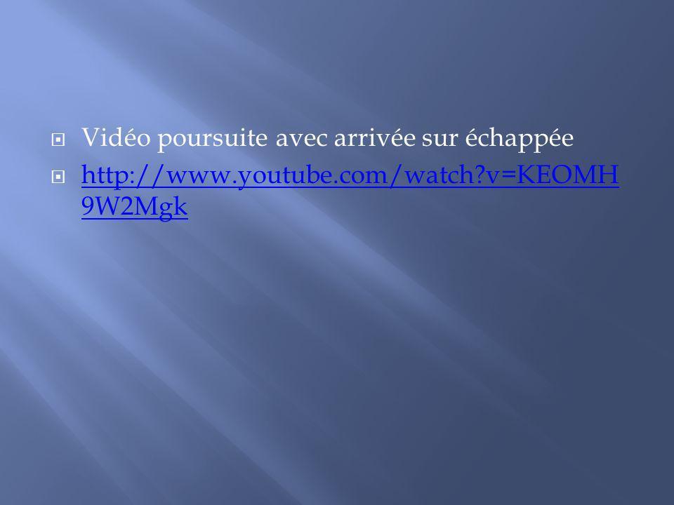 Vidéo poursuite avec arrivée sur échappée http://www.youtube.com/watch?v=KEOMH 9W2Mgk http://www.youtube.com/watch?v=KEOMH 9W2Mgk