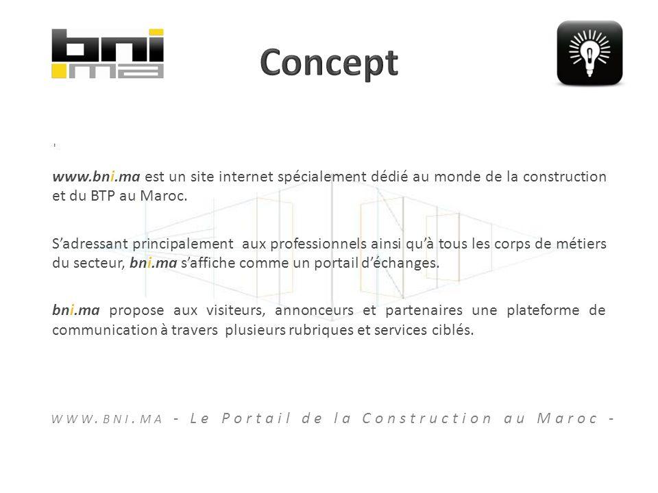 www.bni.ma est un site internet spécialement dédié au monde de la construction et du BTP au Maroc.