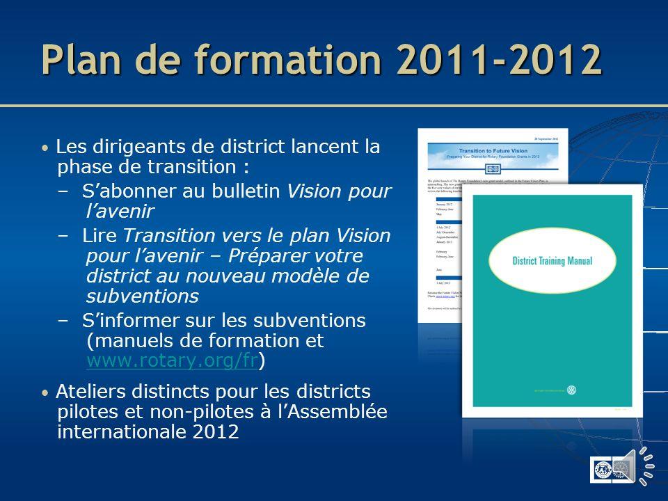 Préparation pour 2013-2014 Aligner les activités sur les axes stratégiques Utiliser les webinaires et les ressources de formation Établir une relation
