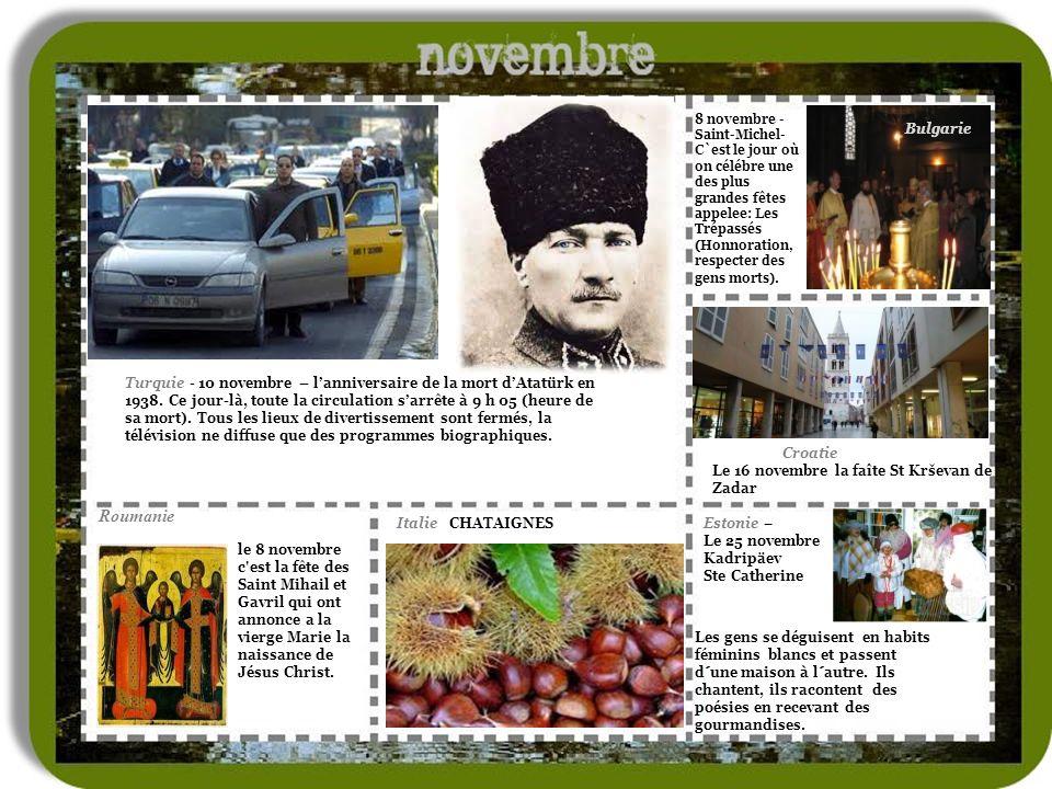 le 8 novembre c est la fête des Saint Mihail et Gavril qui ont annonce a la vierge Marie la naissance de Jésus Christ.